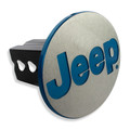 Jeep Billet Line Grained Billet Hitch Plug Cover (Jeep logo)