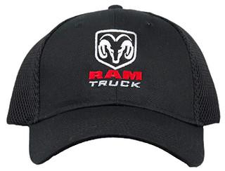 Dodge Ram Truck Black Mesh Hat