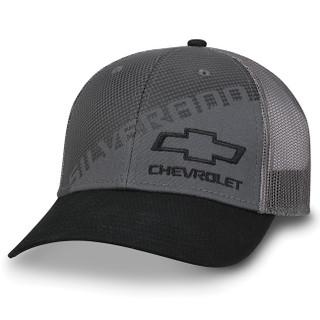 Chevy Silverado Gray/Black Twill & Mesh Flex Hat