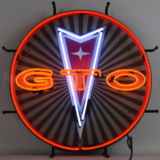 Pontiac GTO Neon Sign with Backing