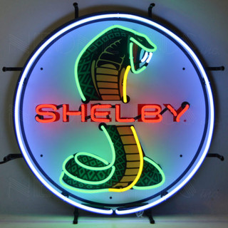 Ford Shelby Cobra with Circle Neon Sign with Backing