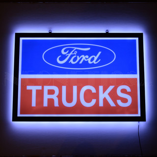 Ford Trucks Slim LED Sign (lit)