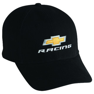 Chevy Gold Bowtie Racing Black Hat