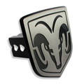 Dodge Ram Billet Line Grained Hitch Plug Cover (Ram Head Logo)