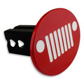 Jeep Billet Color Match Hitch Plug Cover (Jeep Headlight logo shown)