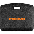Hemi Orange Letters Mosaic Black 22x18 Mat