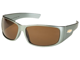 Gray Chevy Gold Bowtie Sunglasses - Brown Tint