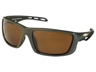 Gunmetal TCG Chevy Gold Bowtie Sunglasses - Brown Tint