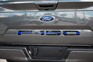 Ford 18-up F-150 Tailgate Letter Kit (Black w/ Blue Center Line)