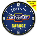Custom Chevrolet Garage LED Backlit Clock