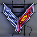 C8 Corvette Emblem Neon Sign