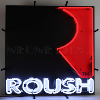 Roush Square R Neon Sign
