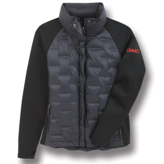 Women's GMC Black and Gray Puffer Jacket