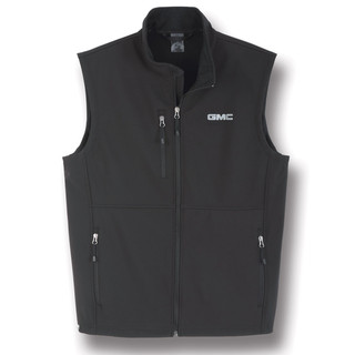 Mens GMC Black Soft Shell Vest