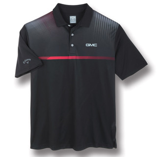 GMC Black Chest Stripe Callaway Polo Shirt