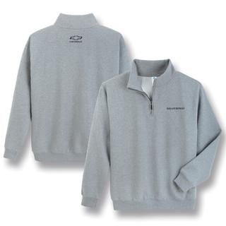 Chevrolet Silverado 1/4 Zip Gray Sweatshirt Pullover Jacket