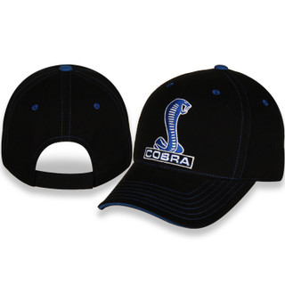 Ford Mustang Cobra Black and Blue Hat