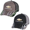 Chevy Racing Black and Gray Mesh Flame Hat