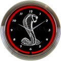 Ford Black Shelby Cobra Neon Clock