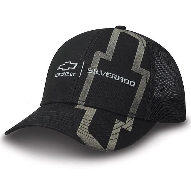 fe27bbf81 Chevy Silverado Black Twill & Mesh Hat