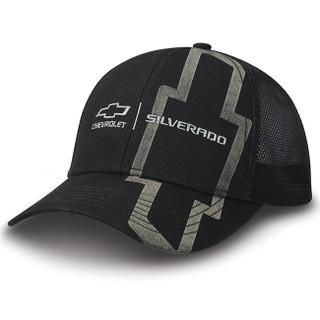 Chevy Silverado Black Twill/Mesh Hat