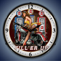 Filler Up Pin Up Girl Clock