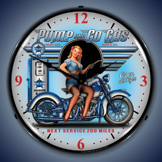 Pump & Go Pin Up Girl Clock