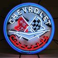 C1 Corvette Emblem Neon Sign
