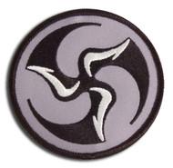 Huk Lab Tri-Fly Patch - gray/black/white