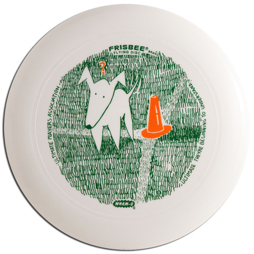 Wham-O UMAX FRISBEE - Quizzical Dog UPA Design Flying Disc
