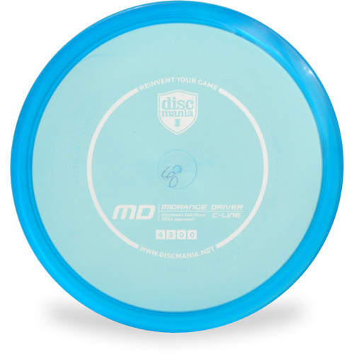 Discmania C-LINE MD Mid-Range Golf Disc Blue Front View