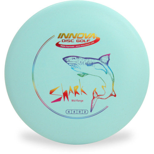Innova DX SHARK Mid-Range Golf Disc Light Blue Top View