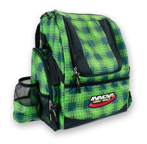 Green Plaid HEROPACK INNOVA DISC GOLF BACKPACK BAG - HOLDS 25 DISCS