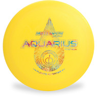 Millenium AQUARIUS Floating Disc Golf Driver Top View Yellow