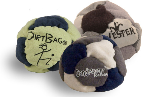 BEST FOOTBAGS 3 PACK - Set of Three Footbag Favorites (HACKY SACKS) Asst Colors