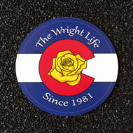 COLORADO FLAG ROSE WRIGHT LIFE STICKER
