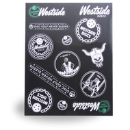 WESTSIDE DISCS STICKER SHEET - ASSORTED DISC GOLF STICKERS