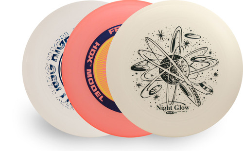 Wham-O UMAX FRISBEE 3 Pack – Set of HDX, GLOW & HIGH RIGIDITY (Asst Colors)
