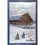 Steamboat Happy Trails Billy Kidd signature poster
