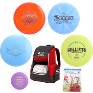Latitude 64å¡ Complete Disc Golf Gift Set - 4 Best Discs + Popular Core Backpack Bag
