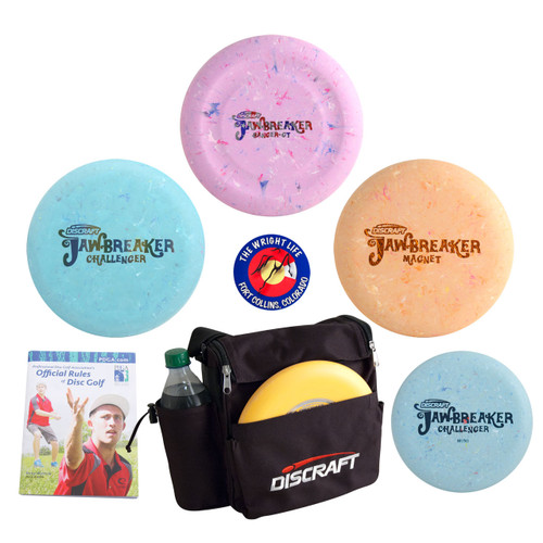 Discraft Jawbreaker Putter Disc Golf Gift Set - Value Pack of 3 Discs + Weekender Bag, Sticker, Rules Book