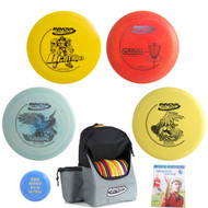 Innova Complete Advanced Disc Golf Gift Set - Discover Bag, 2 Drivers, Mid-Range, Putter + Mini and Rules