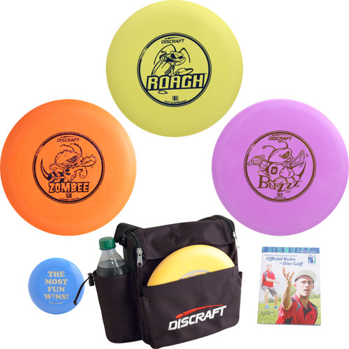 Complete Discraft Disc Golf Gift Set - Backpack Bag, Discs, Mini Marker, Rules - 3 Discs