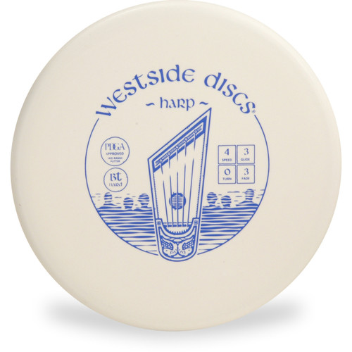 Westside Discs BT HARD HARP Disc Golf Putter - front view white