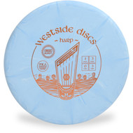WESTSIDE ORIGIO BURST HARP DISC GOLF MID-RANGE - front view blue