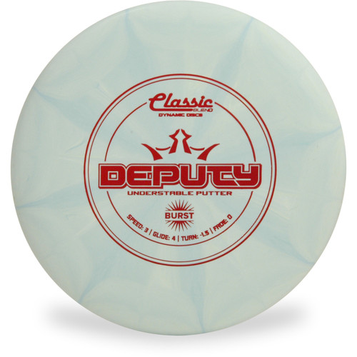 Dynamic Discs CLASSIC BLEND BURST DEPUTY Disc Golf Putter - front view light green