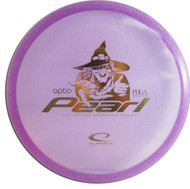 Latitude 64 Opto Pearl Lightweight. Shows top view of purple disc.