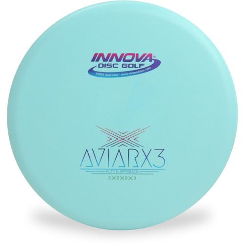 Innova DX AVIARX3 Disc Golf Putter and Approach Light Blue Front View