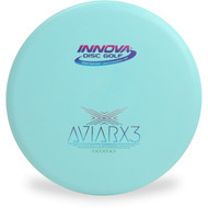 Innova DX AVIARX3 Disc Golf Putter and Approach Light Blue Front View