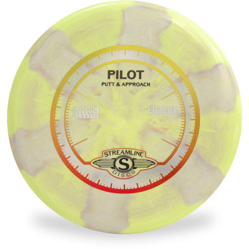 Streamline COSMIC NEUTRON PILOT Putter and Approach Golf Disc Front View